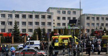 Bei einem Angriff auf ein russisches Gymnasium sind mehrere Menschen getötet worden. Foto: Maksim Bogodvid/Sputnik/dpa