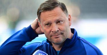 Muss im Saisonendspurt auf Stürmer Jhon Cordoba verzichten: Hertha-Coach Pal Dardai. Foto: Soeren Stache/dpa-Pool/dpa