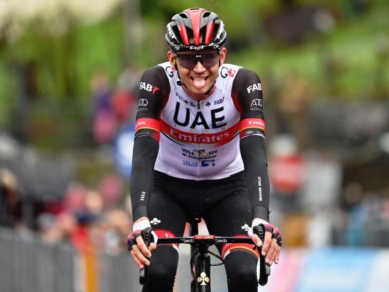 Joe Dombrowski war auf der vierten Etappe des Giro d'Italia nicht zu schlagen. Foto: Massimo Paolone/LaPresse/AP/dpa