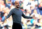Cheftrainer Pep Guardiola ist mit Manchester City englischer Meister geworden. Foto: Adam Davy/PA Wire/dpa