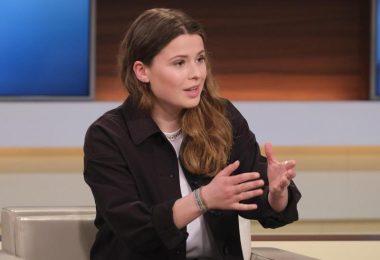 Klimaaktivistin Luisa Neubauer in der ARD-Sendung «Anne Will» am Sonntagabend. Foto: Wolfgang Borrs/NDR/dpa