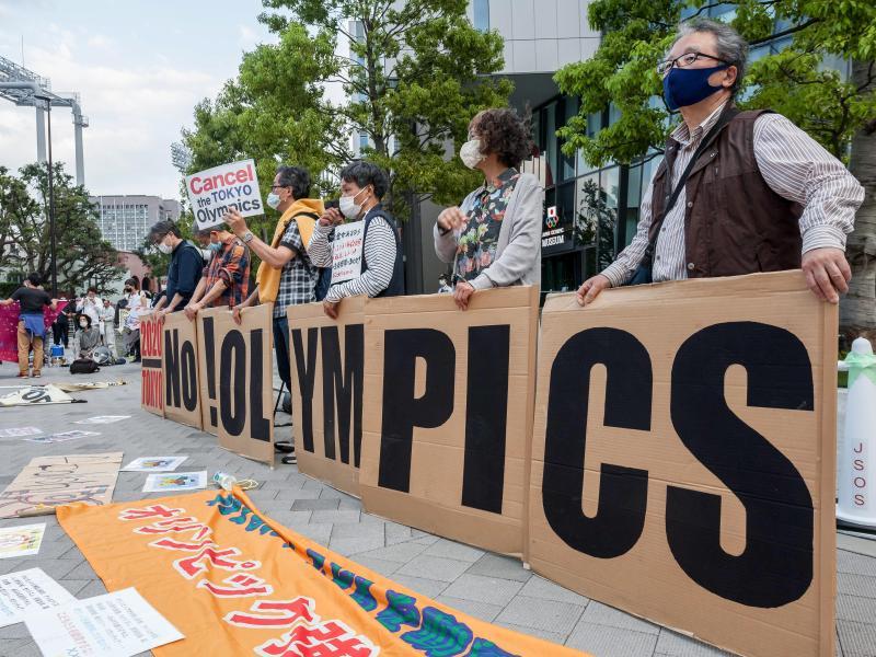Der Protest gegen Olympia in Tokio nimmt immer mehr zu. Foto: Damon Coulter/SOPA Images via ZUMA Wire/dpa