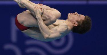 Martin Wolfram hat bei der EM Bronze vom Drei-Meter-Brett gewonnen. Foto: Tamas Kovacs/MTI/AP/dpa
