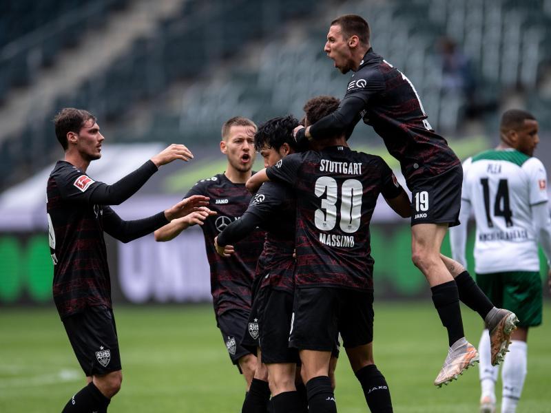 Der VfB Stuttgart konnte die Partie in Mönchengladbach drehen. Foto: Marius Becker/dpa