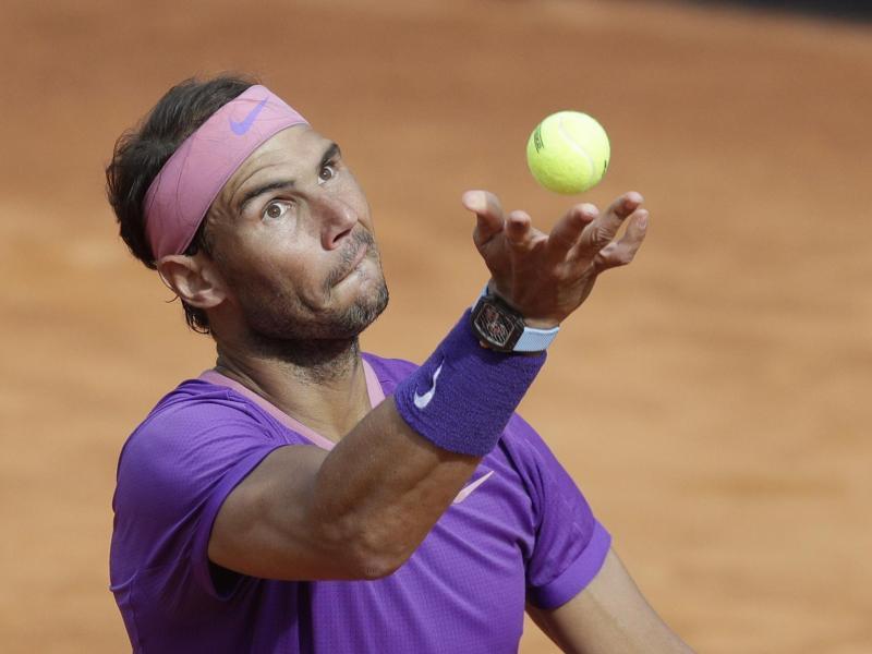 Rafael Nadal gewann sein Halbfinale gegen Reilly Opelka in zwei Sätzen. Foto: Gregorio Borgia/AP/dpa
