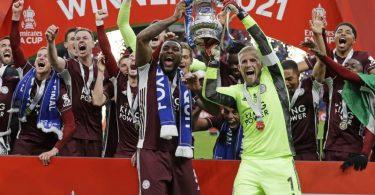 Leicester City konnte zum ersten Mal den FA Cup gewinnen. Foto: Kirsty Wigglesworth/AP POOL/dpa