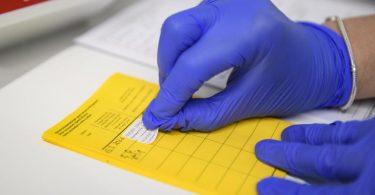 Informationen über die Impfung werden im Impfpass eingetragen. (Symbolbild). Foto: Christopher Neundorf/dpa