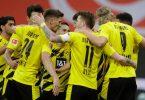 Mit dem Sieg in Mainz machte der BVB die Champions-League-Qualifikation fix. Foto: Michael Probst/AP-Pool/dpa