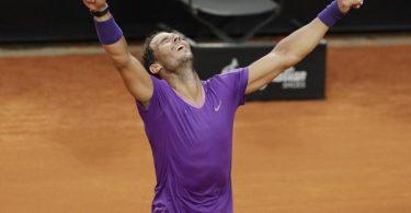 Rafael Nadal hat das Masters in Rom zum zehnten Mal gewonnen. Foto: Gregorio Borgia/AP/dpa