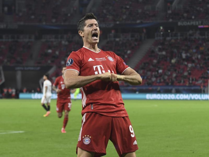 Robert Lewandowski erzielte bisher 40 Tore in dieser Bundesligasaison für den FC Bayern. Foto: Attila Kisbenedek/Pool AFP/AP/dpa