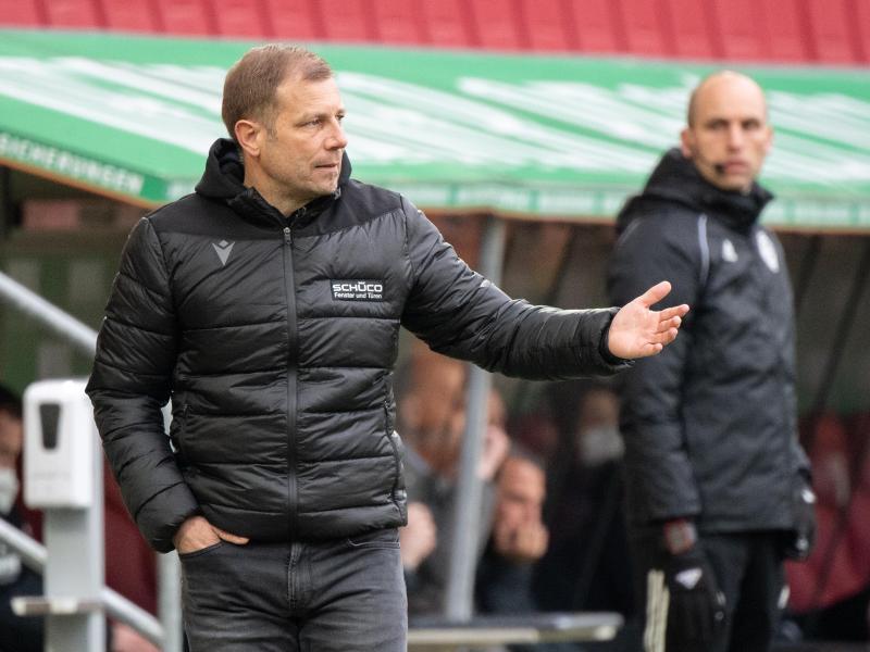 Die Bielefelder um Trainer Frank Kramer spielen seit Wochen sehr konstant. Foto: Matthias Balk/dpa