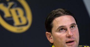 Gerardo Seoane soll Berichten zufolge einen Zweijahresvertrag bei Bayer Leverkusen bekommen. Foto: Anthony Anex/KEYSTONE/dpa