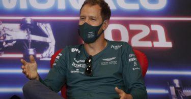 Bekommt bei Aston Martin weibliche Verstärkung: Sebastian Vettel. Foto: Sebastien Nogier/EPA Pool/AP/dpa