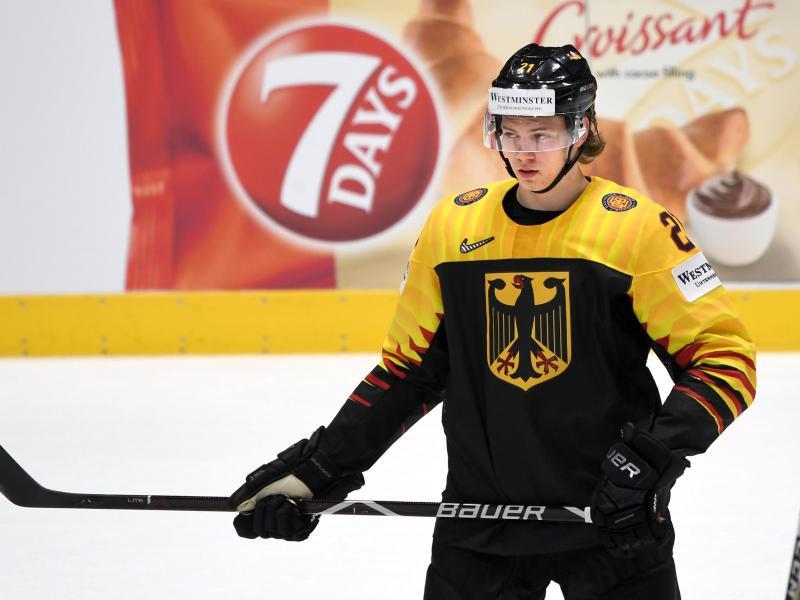 Deutscher Hoffnungsträger für die Eishockey-WM in Riga:MoritzSeider. Foto: Monika Skolimowska/dpa-Zentralbild/dpa