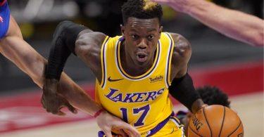 Will mit den Los Angeles Lakers den NBA-Titel:Dennis Schröder. Foto: Carlos Osorio/AP/dpa