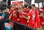 Der Hauptstadt-Club gewann 2:1 (0:0) gegen RB Leipzig und sicherte sich mit dem siebten Platz die Teilnahme an der neuen Conference League. Foto: John Macdougall/AFP-Pool/dpa