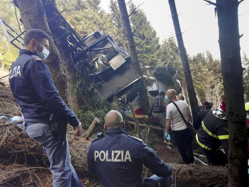 14 Menschen sind bei demUnglück ums Leben gekommen. Foto: Uncredited/Italian Police/AP/dpa