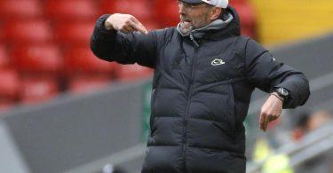 Jürgen Klopp, Trainer vom FC Liverpool, gestikuliert an der Seitenlinie. Foto: Phil Noble/PA Wire/dpa