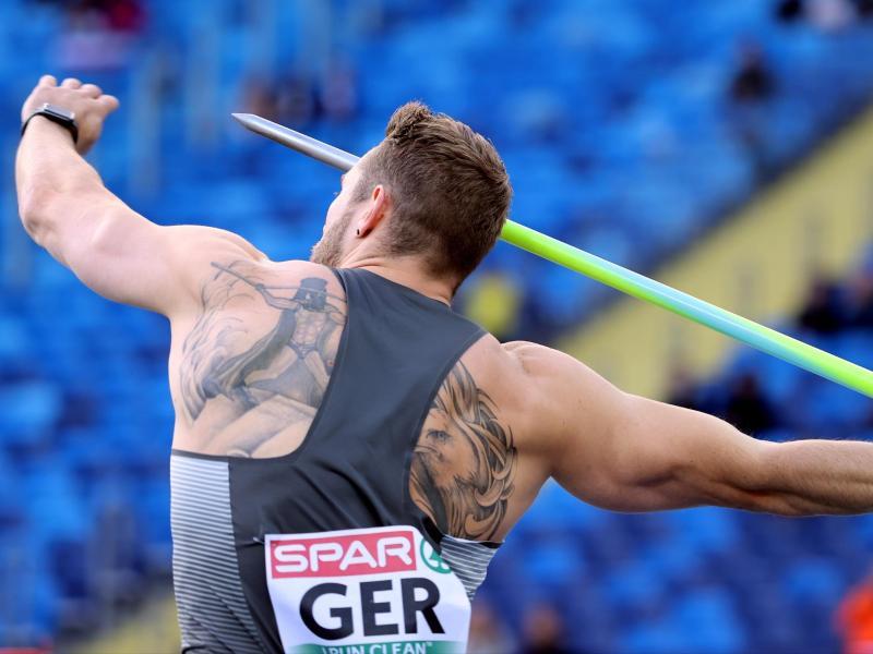 Speerwerfer Johannes Vetter warf bei der Team-EM in Polen über 96 Meter. Foto: Andrzej Grygiel/PAP/dpa