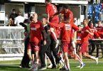 Durch den Sieg in Kiel hat der 1. FC Köln die Klasse gehalten. Foto: Carmen Jaspersen/dpa