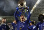 Kai Havertz fluchte vor Glück nach dem Champions-League-Sieg. Foto: Manu Fernandez/POOL AP/dpa