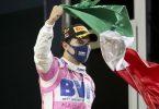 Dem Mexikaner Sergio Perez vom Team Racing-Point war die Freude über seinen ersten Sieg in der Formel 1 anzusehen. Foto: Tolga Bozoglu/Pool EPA/AP/dpa