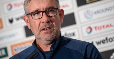 Hat seinen Vertrag bei Union Berlin verlängert: Trainer Urs Fischer. Foto: Andreas Gora/dpa