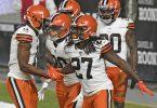 NFL-Überraschung:Die Cleveland Browns warfen die Pittsburgh Steelers aus denPlayoffs. Foto: Don Wright/AP/dpa