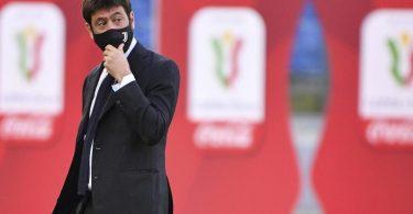 Juve-Boss Andrea Agnelli befürchtet bis zu 8,5 Milliarden Euro Verlust für Europas Fußball. Foto: Alfredo Falcone/LaPresse/AP/dpa