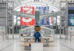 Das Leipziger Messemännchen wird auch in diesem Jahr keine Buchmessen-Besucher empfangen. Foto: Jan Woitas/dpa-Zentralbild/dpa