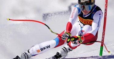 Holte sich den WM-Sieg im Super-G: Lara Gut-Behrami aus der Schweiz fährt im Wettbewerb auf der Rennstrecke. Foto: Michael Kappeler/dpa