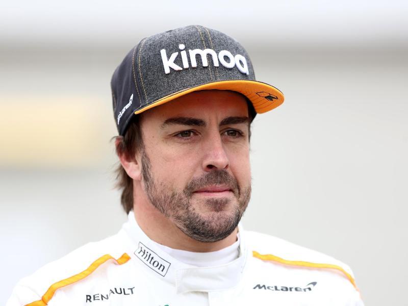 Der spanische Formel-1-Pilot Fernando Alonso hatte einen Fahrrad-Unfall. Foto: Tim Goode/PA Wire/dpa