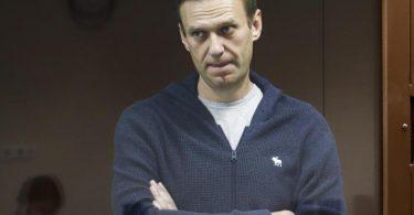 Die Verhandlung gegen den Kremlkritiker Alexej Nawalny wegen Beleidigung eines Weltkriegsveteranen wird fortgesetzt. Foto: Babuskinsky District Court/AP/dpa