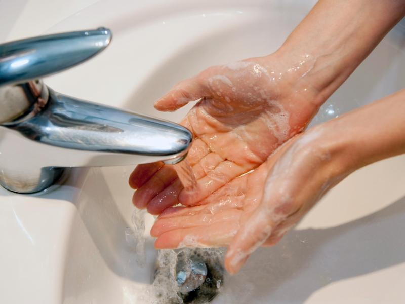 Häufiges Händewaschen kann die Haut in Mitleidenschaft ziehen - Waschlotionen ohne Seife versprechen eine milde Reinigung. Foto: Kai Remmers/dpa-tmn