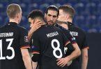Nach dem Auftaktsieg gegen Rumänien ist das DFB-Team nun in Rumänien gefordert. Foto: Federico Gambarini/dpa