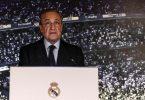 «Wenn gesagt wird: Das sind die Reichen - nein. Ich bin nicht der Eigentümer von Real Madrid, Real Madrid ist ein Mitgliederverein. Alles, was ich tue, ist zum Wohl des Fußballs. Jetzt machen wir dies, um den Fußball zu retten, der sich in einer kritischen Situation befindet», sagt Florentino Perez. Foto: Enrique de la Fuente/gtres/dpa/Archiv