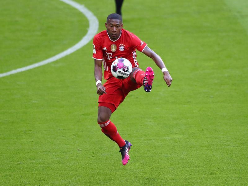 FC Bayern Münchens David Alaba am Ball. Foto: Matthias Schrader/AP-Pool/dpa