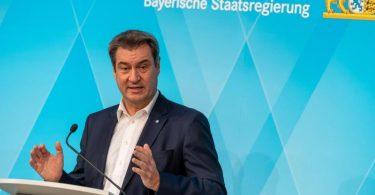 Markus Söder Mitte Mai bei einer Pressekonferenz in München. Foto: Peter Kneffel/dpa