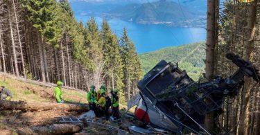 Nach dem Seilbahnunglück mit 14 Toten in Italien beginnt die Suche nach den Ursachen. Foto: -/Soccorso Alpino e Speleologico Piemontese/dpa