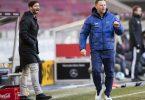 Hertha BSC setzt weiter auf Trainer Pal Dardai (r), Sportdirektor Arne Friedrich soll auch bleiben. Foto: Tom Weller/dpa