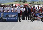 Nach dem Tod des Schweizer Rennfahrers Jason Dupasquier gab es in Mugello eine Schweigeminute. Foto: Antonio Calanni/AP/dpa