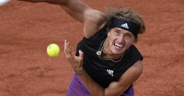 Alexander Zverev tat sich gegen Oscar Otte lange schwer. Foto: Michel Euler/AP/dpa