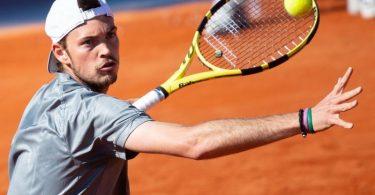 Aus in der ersten Runde bei den French Open: Maximilian Marterer in Aktion. Foto: Sven Hoppe/dpa