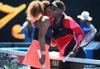 Serena Williams (r) und Naomi Osaka bei den Australian Open im Februar 2021. Foto: Dave Hunt/AAP/dpa