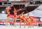 Bei den Finals werden in 18 Sportarten die nationalen Meisterinnen und Meister ermittelt, wie beim Mehrkampf der Rhythmische Sportgymnastik. Foto: Rolf Vennenbernd/dpa