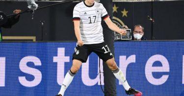 Florian Neuhaus traf gegen Dänemark. Foto: Federico Gambarini/dpa