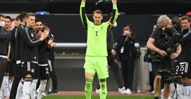 Manuel Neuer absolvierte sein 100. Länderspiel. Foto: Federico Gambarini/dpa