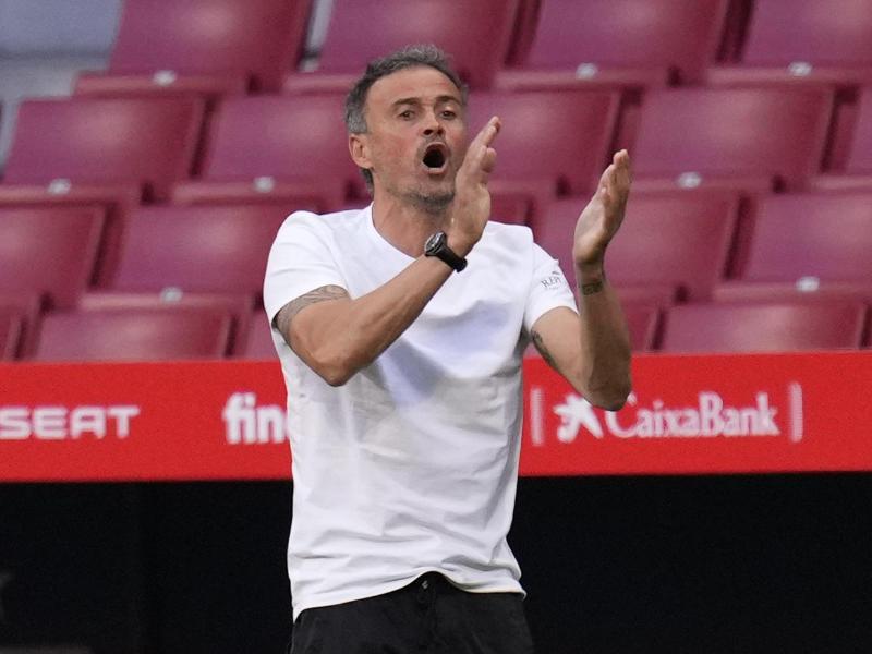 Hat den Aufbau einer Reserve-Blase begonnen: Spaniens Trainer Luis Enrique. Foto: Manu Fernandez/AP/dpa