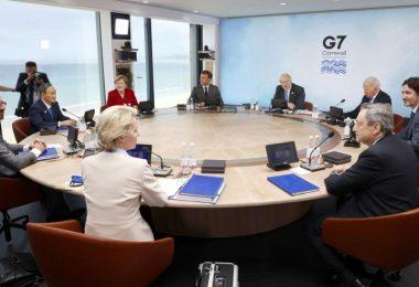 Die Staats- und Regierungschefs sieben führender westlicher Industrienationen wollen sich über ihren Kurs gegenüber autoritär geführten Großmächten wie China und Russland abstimmen. Foto: --/Pool/kyodo/dpa