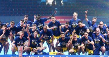 Alba Berlin hat sich in der Finalserie gegen Bayern München durchgesetzt und den zehnten Meistertitel der Vereinshistorie geholt. Foto: Tobias Hase/dpa
